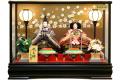 【雛人形】久月作 「よろこび雛」二人親王 ケース飾り (5881)