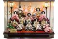 【雛人形】 久月 「十五人飾り」 アクリルケース(65291)