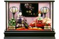 【雛人形】久月作 「よろこび雛」二人親王 ケース飾り (65558)