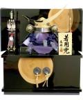 【五月人形】 高輝作「伊達政宗 着用兜」 コンパクト収納飾り(67ST-729)