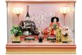 【雛人形】久月作 「よろこび雛」二人親王 パノラマケース飾り (69770)