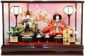 【雛人形】久月作 「よろこび雛」二人親王 ケース飾り (69775)