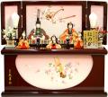 【雛人形】 久月 新井久夫作 「ほのか 彩雲雛」 木目込み 五人収納飾り(HN51-B)