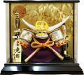【五月人形】久月作 「上杉謙信公兜」 アクリルケース飾り(K51127)