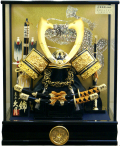 【五月人形】久月作 家紋「御兜」ケース飾り(K51917)