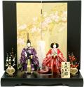 【雛人形】久月 恵林作 立雛  親王平飾り (S-29162)