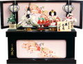 【雛人形】久月作 「よろこび雛」二人親王 コンパクト収納飾り (S-29172)