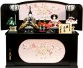 【雛人形】久月作 「よろこび雛」二人親王 コンパクト収納飾り (S-29176)