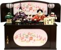 【雛人形】久月作 「よろこび雛」二人親王 コンパクト収納飾り (S-29177)