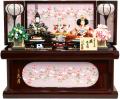 【雛人形】久月作 「よろこび雛」二人親王 コンパクト収納飾り (S-29190)