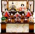 【雛人形】久月作 「よろこび雛」 収納式 三段飾り (S-29231)