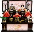 【雛人形】久月作 「よろこび雛」 収納式 三段飾り (S-29232)