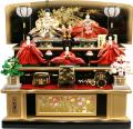 【雛人形】久月作 束帯十二単衣姿「よろこび雛」 五人三段飾り(S-2938)