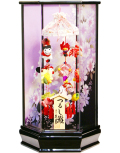 【雛人形】久月作 さげもん「吊るし雛 夢」 アクリルケース飾り(SYM-1)