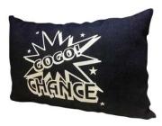 ジャグラー デニムクッション [ネイビー] GOGO!CHANCE GOGO!ランプ マーク クッション パチスロ スロット グッズ 北電子 キャラクター グッズ ※4月〜5月頃入荷予定