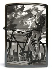 【送料無料】 エヴァンゲリオン RADIO EVA ZIPPO アスカ (The bicycle) ジッポ ライター オイルライター エヴァンゲリヲン ラヂオ エヴァ キャラクター グッズ ※5月上・中旬頃入荷予定