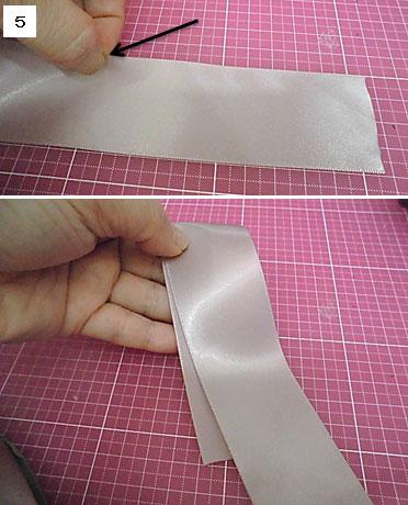 バンスクリップのトップリボンの作り方5