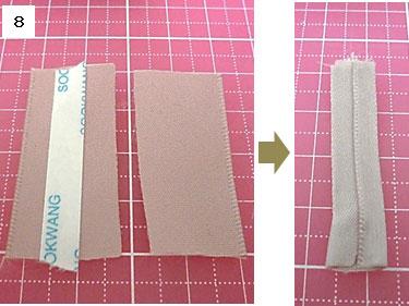 バンスクリップのトップリボンの作り方8