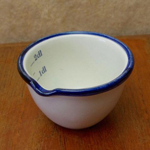 フランス ブロカント メジャーカップ(陶製)1960年代