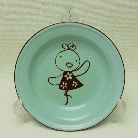フランスブロカント  子供用ホウロウ 皿(ひよこ)