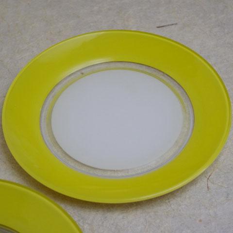 フランス製 オールドデュラレックス ディナー皿(イエロー)