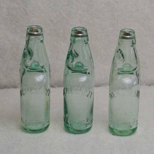 フランス ブロカント BEAUMONT  サイダー瓶