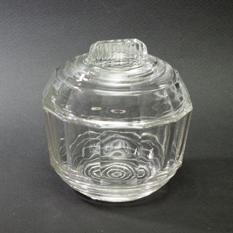 フランスブロカント   ガラス  ポット