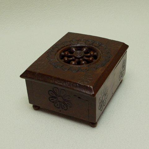 フランスブロカント  木彫  ミニ 小物入れ(1950年代)