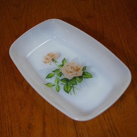 アルコパル 角皿 ピンクのバラ