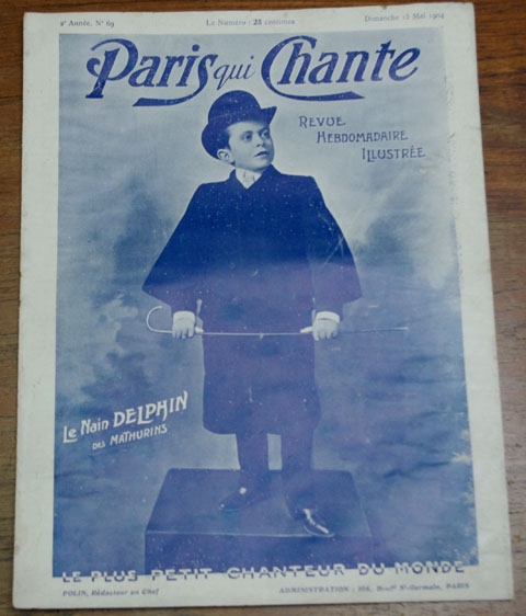 """ビンテージ本 """"Paris qui Chante""""  69 号、  歌楽譜 雑誌(1904年)"""