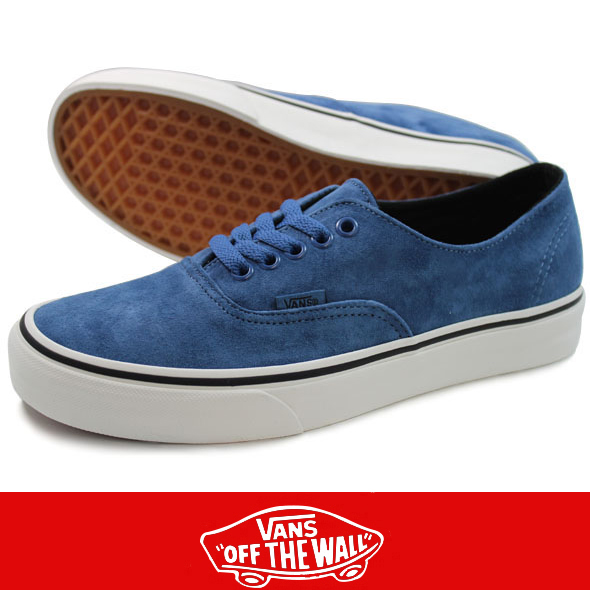 VANS バンズ Authentic Decon PIG SUEDE Blue Ashes/Blanc de Blanc