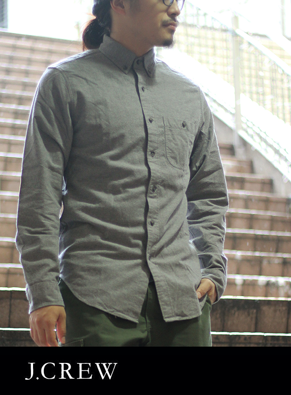 J.CREW ジェイクルー ELBOE PATCH SHIRTS Heather Gray