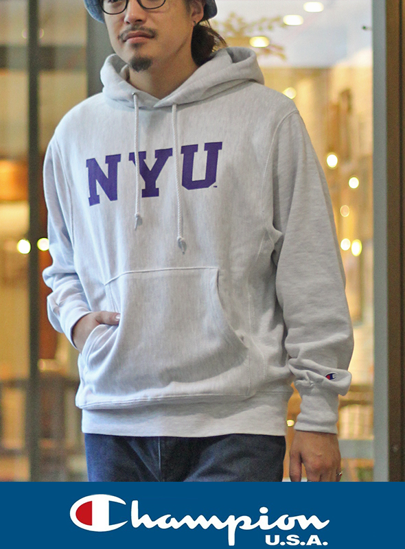 CHAMPION チャンピオン NYU SWEAT PARKA OAT