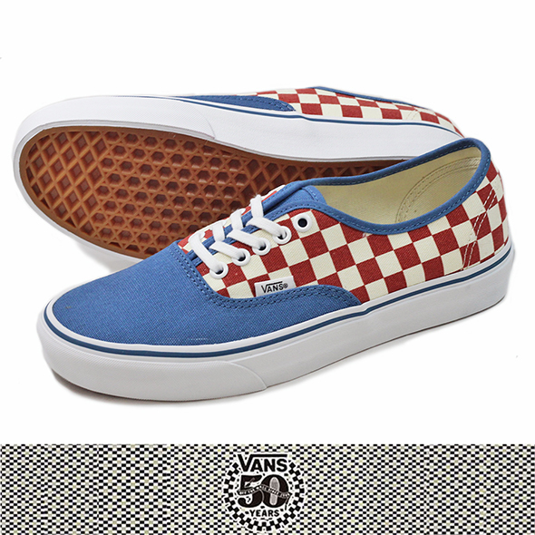 VANS バンズAuthentic (50th) BLUE/RED/CHECKER