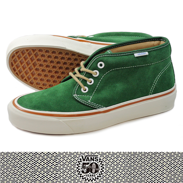 VANS バンズ 50th CHUKKA BOOT 49 REISSUE GREEN SUEDE