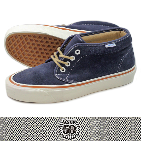 VANS バンズ 50th CHUKKA BOOT 49 REISSUE NAVY SUEDE