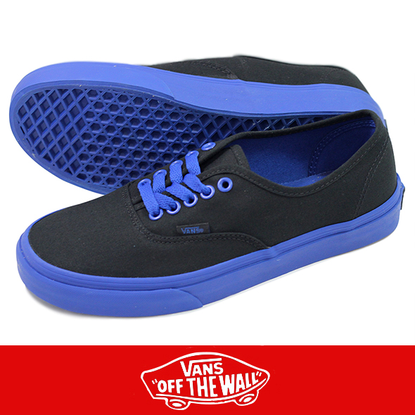 VANS バンズ AUTHENTIC (POP OUTSOLE) BLACK/BLUE