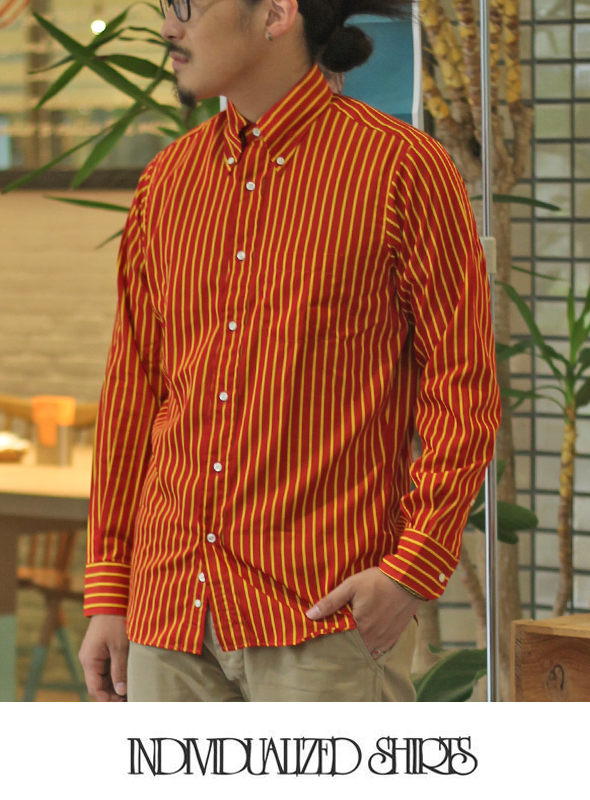INDIVIDUALIZED SHIRTS インディヴィジュアライズドシャツ College Stripe  STANDARD SHIRT
