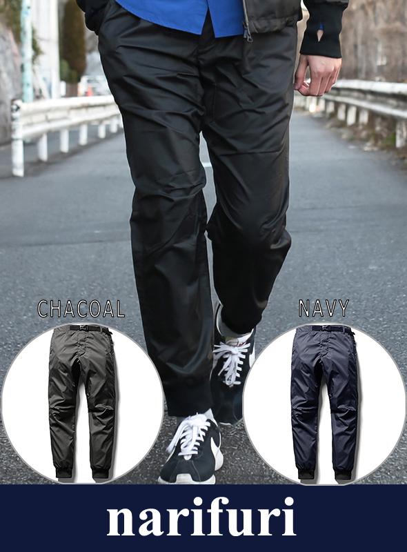 narifuri ナリフリ Mini-rip easy long pants(NF890)
