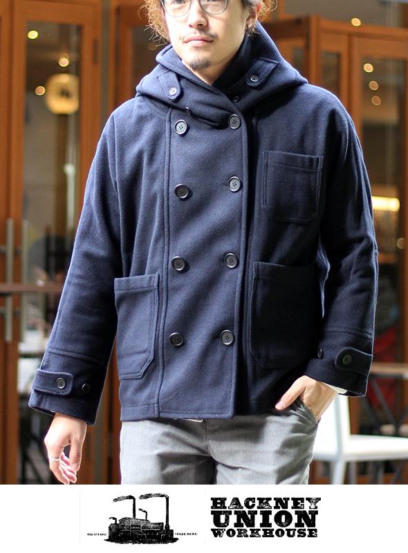 HACKNEY UNION WORKHOUSE ハックニーユニオンワークハウス Fisherman Short Coat フィッシャーマン ショートコートWOOL