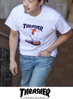 THRASHER スラッシャー NECKFACE(ネックフェイス) Tシャツ WHITE