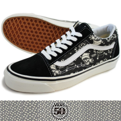 VANS バンズ OLD SKOOL 36 REISSUE (50th) SKULL BLK