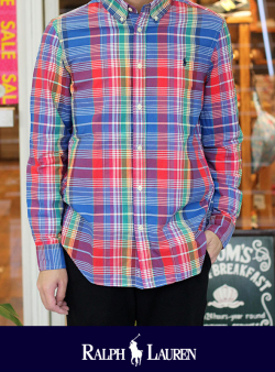 POLO RALPH LAUREN ポロ ラルフローレン BOY'S B.D マドラスチェックシャツ