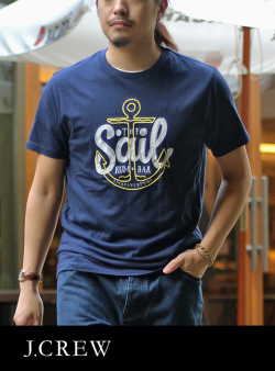 J.CREW ジェイクルーSAIL GRAPHIC  S/S TEE NAVY