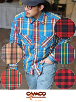 CAMCO カムコ  FLANNEL WORK SHIRTS 【6色】
