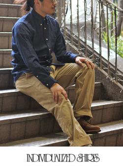 INDIVIDUALIZED SHIRTS インディヴィジュアライズドシャツ デニムシャツ スタンダードフィット