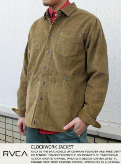 RVCA CLOCKWORK JACKET
