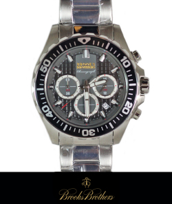 BrooksBrothers  ブルックスブラザーズ クロノグラフウォッチ 腕時計 SILVER