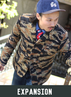 EXPANSION エクスパンション GLEN COVE JACKET BLEED TIGER CAMO