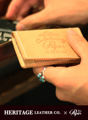 ��HERITAGE LEATHER��paper��CARD CASE